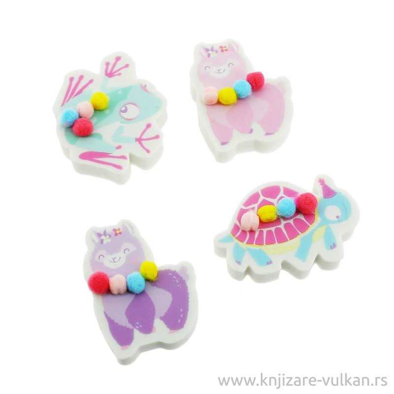 Set gumica za brisanje HAPPY ZOO Alpaca