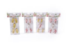 Pakovanje dekorativnih drvenih štipaljki : SPRINGS FLAMINGO - 4,8 cm