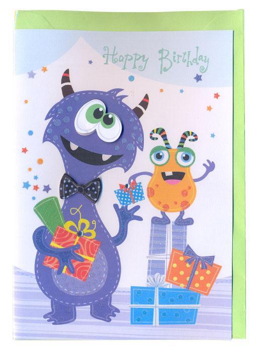 Čestitka Happy Birthday FAIRY MONSTERS