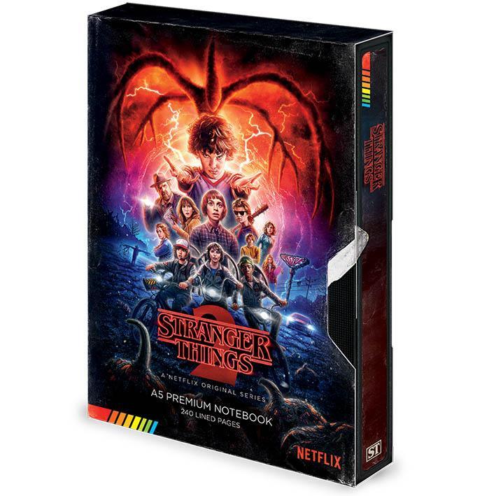 Notes Premium A5 STRANGER THINGS Season 2 VHS