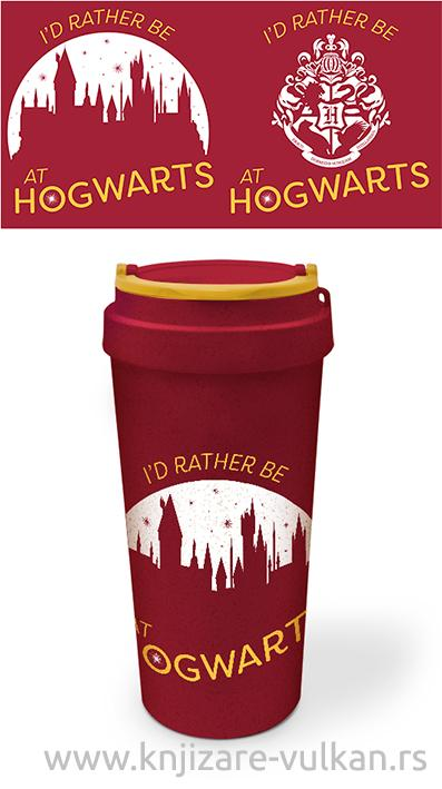 Putna šolja HARRY POTTER Rather be at Hogwarts