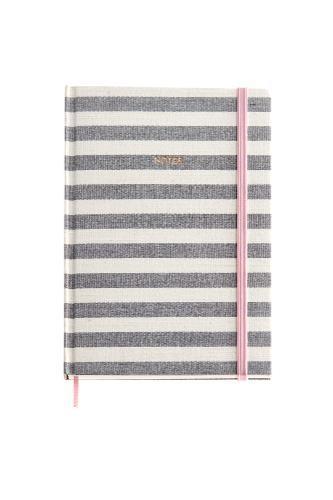 Notes A5  STRIPES ROSE GREY MR