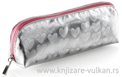 Pernica za Olovke ROUNDED HOLDALL SILVER HEARTS ARP