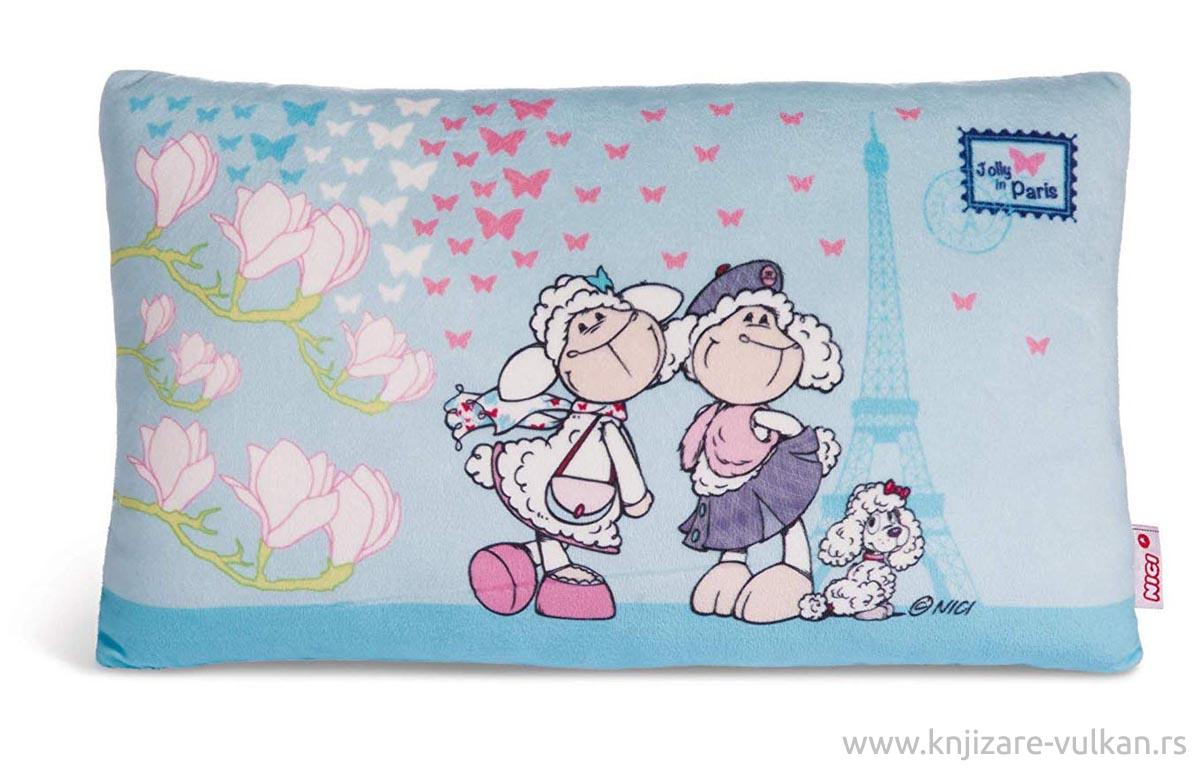 CUSHION JOLLY CHIC AND JOLLY PARIS RECTANGULAR 43X25CM