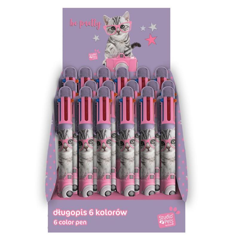 Hemijska olovka sa mastilom u više boja STUDIO PETS Cat