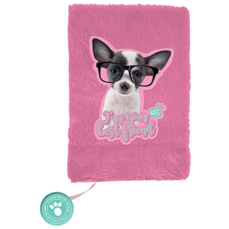Dnevnik A5 plišani STUDIO PETS Chihuahua