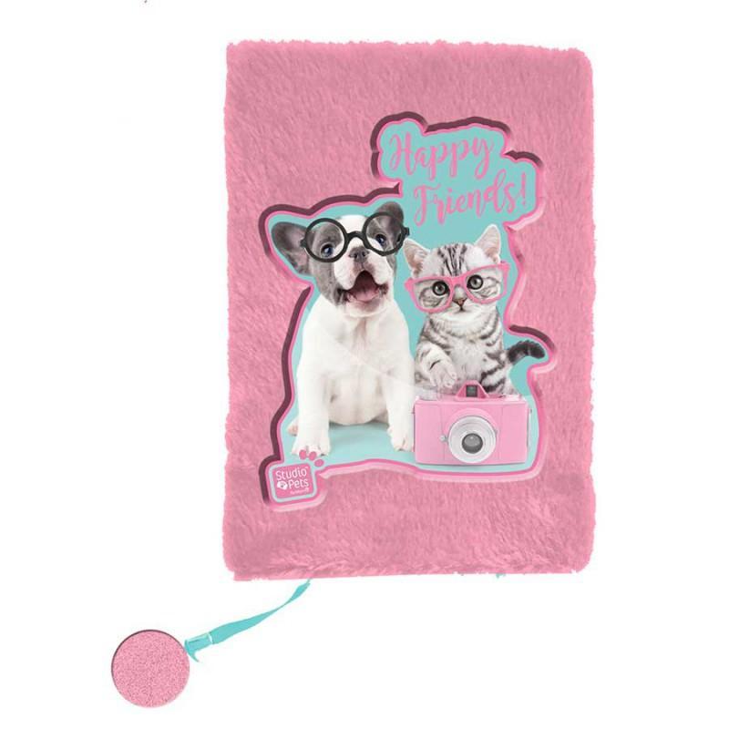 Dnevnik plišani STUDIO PETS Dog & Cat