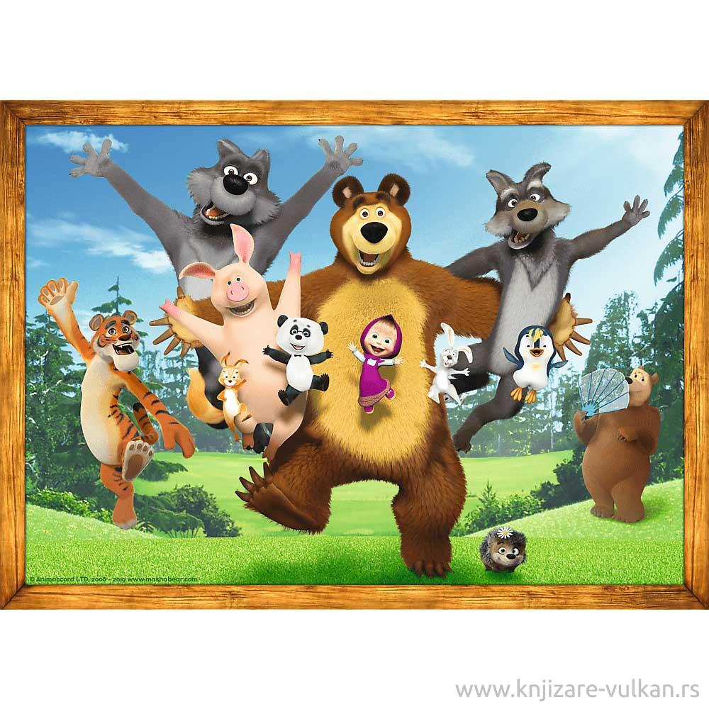PUZZLES 4IN1 MASHA'S FOREST ADVENTURES ANIMACCORD MASHA AND THE BEAR