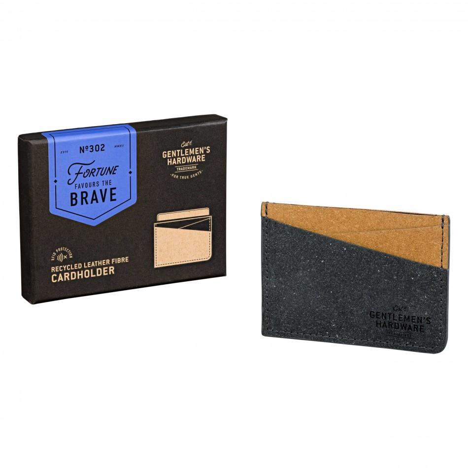 Futrole za dokumenta: CARD HOLDER RECYCLED LEATHER BLACK & TAN
