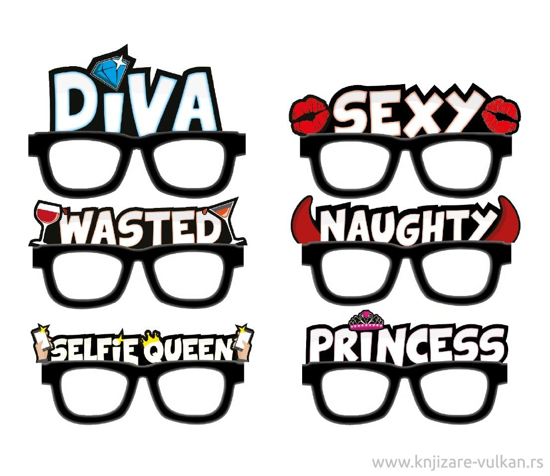 Naočare SILLY SPECS GIRLS NIGHT OUT EVE