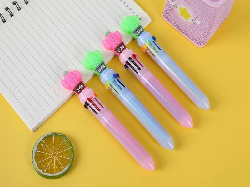 Višebojne hemijske olovke KAKTUS