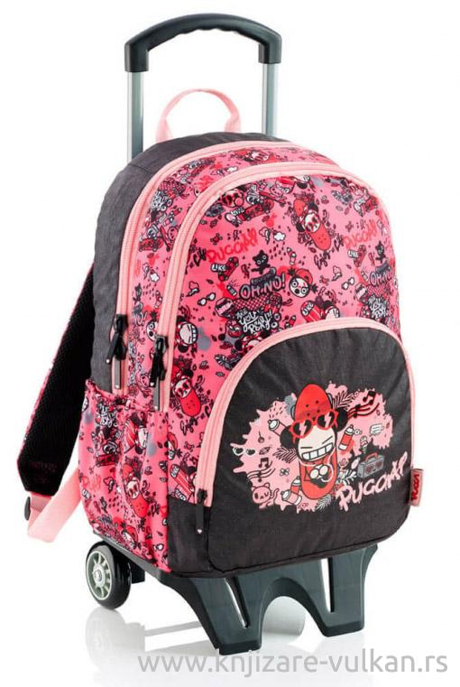 BACKPACK W/THREE COMPARTMENTS W/TROLLEY ENJOY LIFE PUCCA