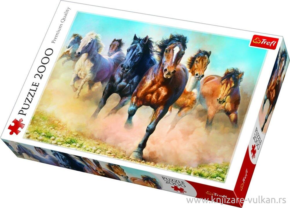 Puzzle TREFL Galloping herd of horses 2000