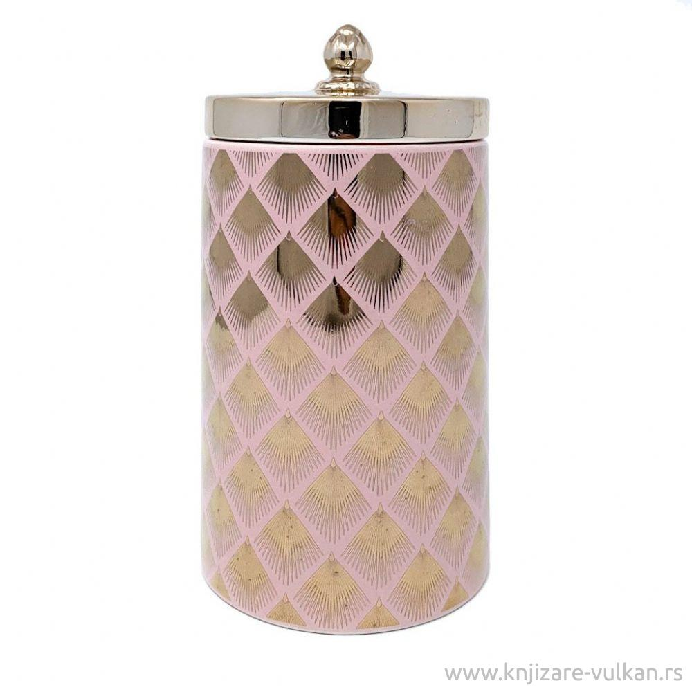 CANDLELIGHT PRODUCTS Keramička roze zlatna tegla