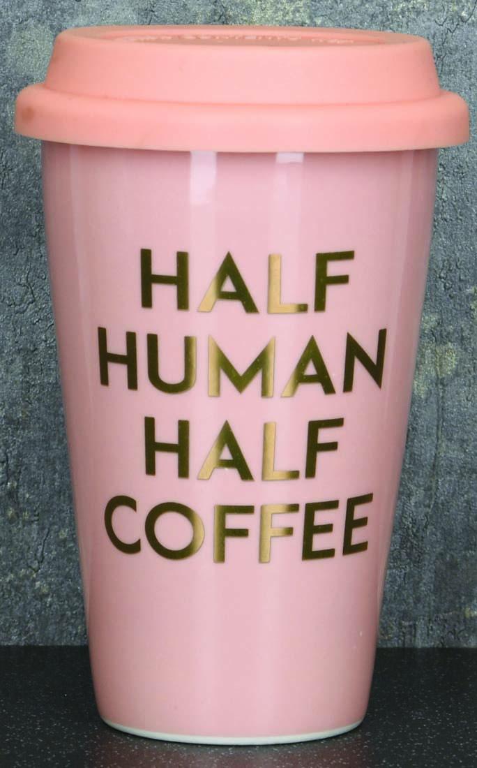 Putna šolja  HALF HUMAN HALF COFFEE