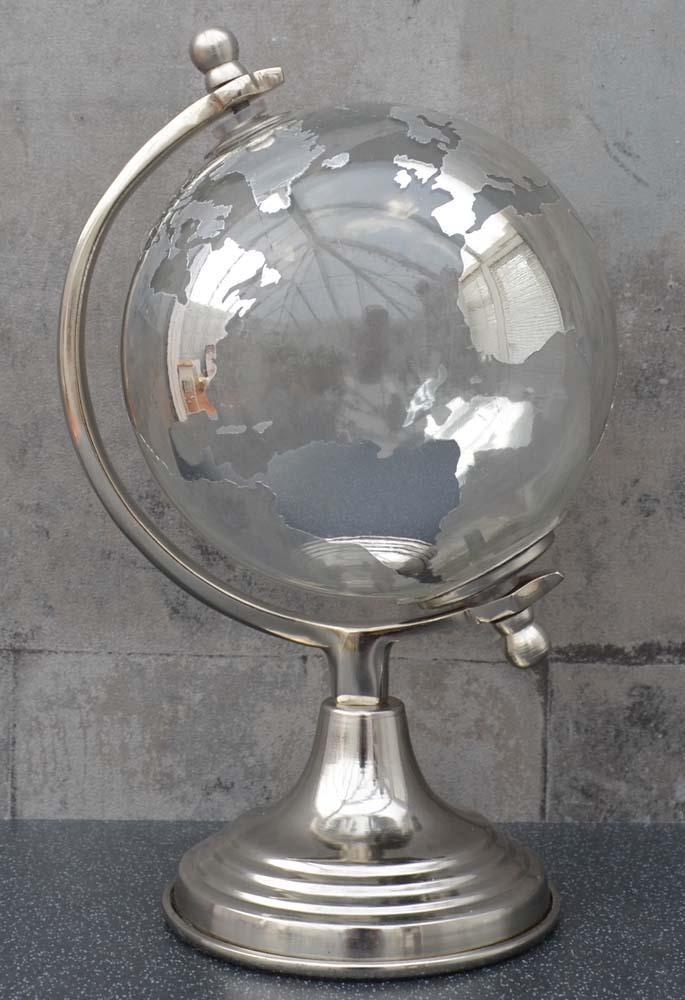 Stakleni globus SILVER 26 cm