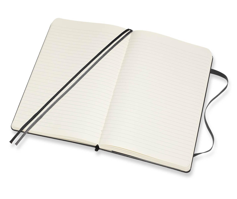 Notes A5 MOLESKINE Classic Soft, crni - linije TP