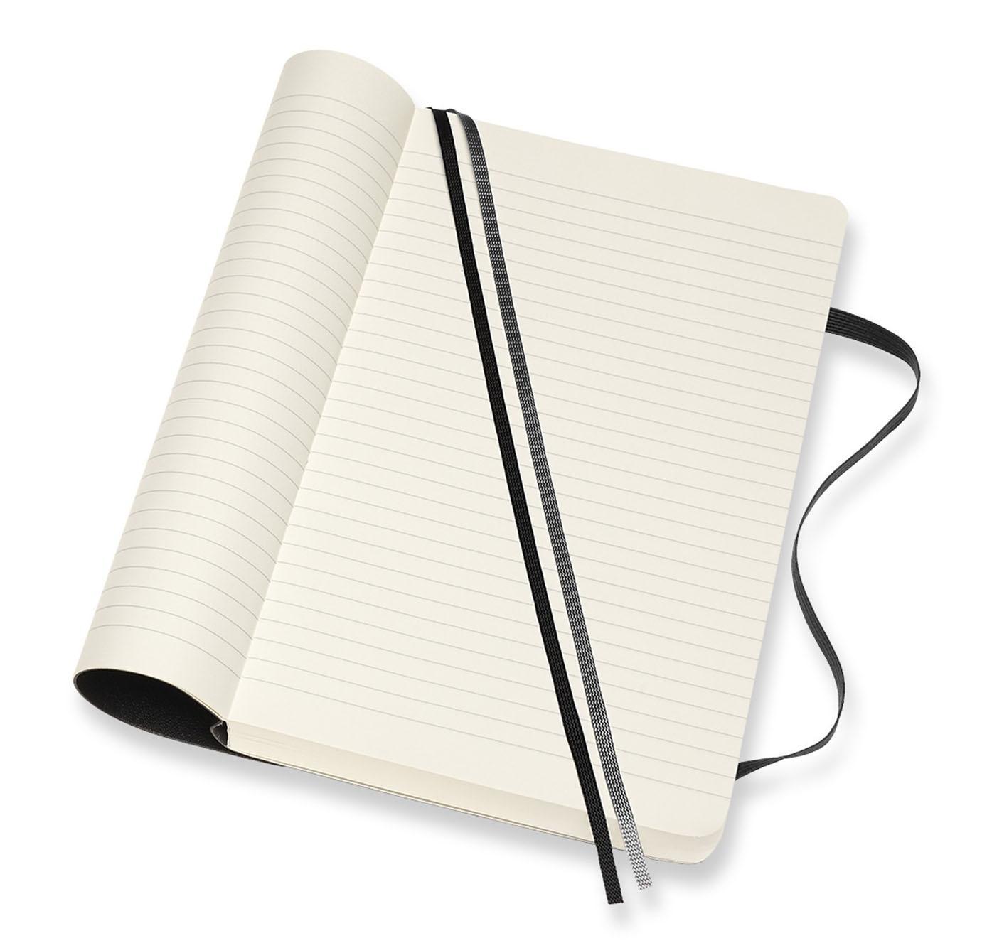 Notes A5 MOLESKINE Classic Soft, crni - linije