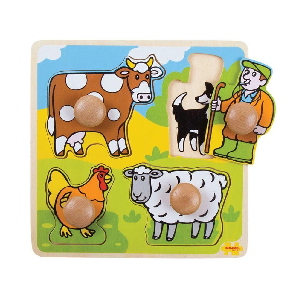 Slagalica MY FIRST PEG PUZZLE Farma