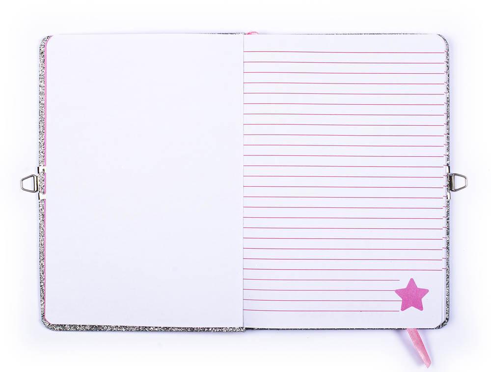 Dnevnik sa olovkom i ogledalom GLITTER DIARY