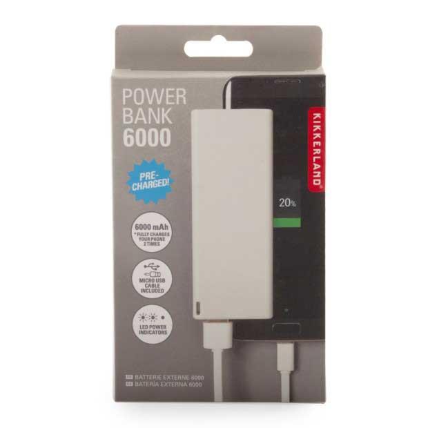 Eksterna baterija za telefon-bela ( 6000mah)