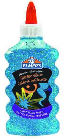 ELMER lepak sa šljokicama 177ml plavi