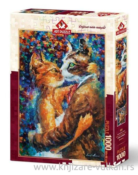 Puzzle DANCE OF THE CATS IN LOVE 1000 kom