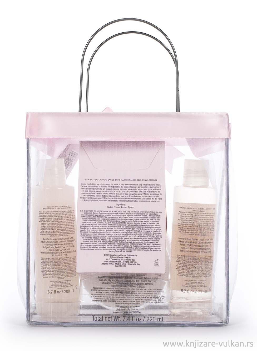 Kozmetički set u Tote torbi ORGANZA TOTE (roze)