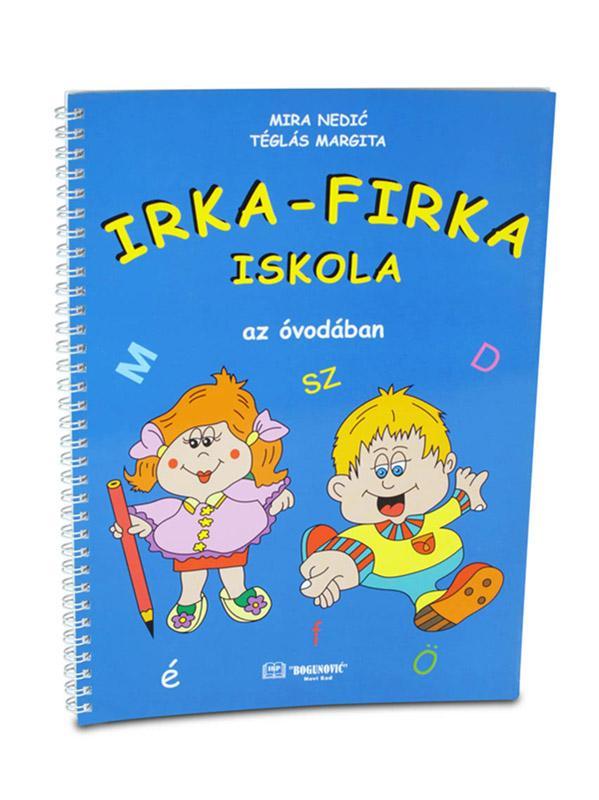 IRKA-FIRKA ISKOLA, radni list za grafomotoriku na mađarskom jeziku za predškolski uzrast