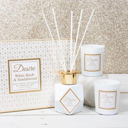 Poklon set Desire Fragrance - beli