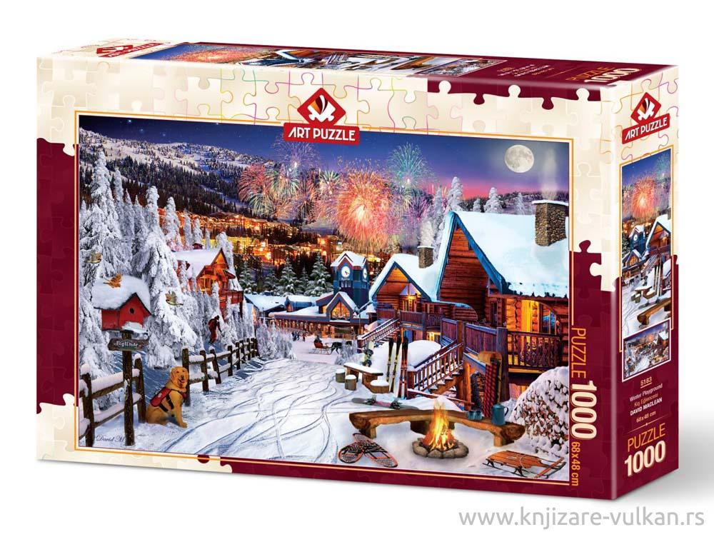 Puzzle WINTER PLAYGROUND 1000 kom