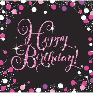 ZASTAVICE HAPPY BIRTHDAY PINK