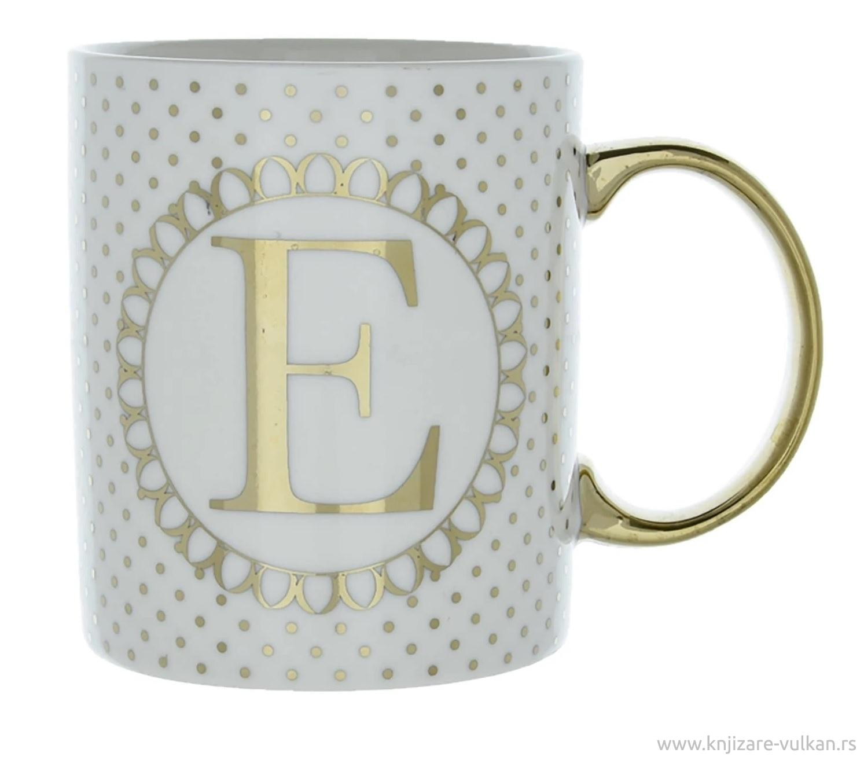 Porcelanska šolja  E INITIAL