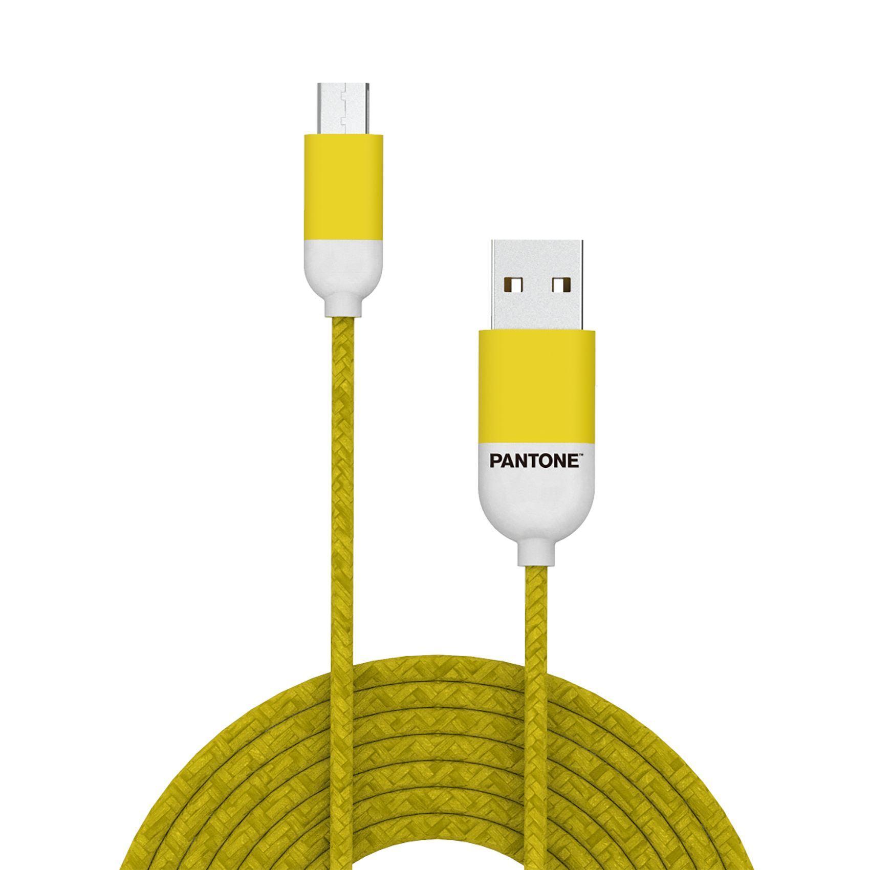 PANTONE mikro USB kabl ŽUTI