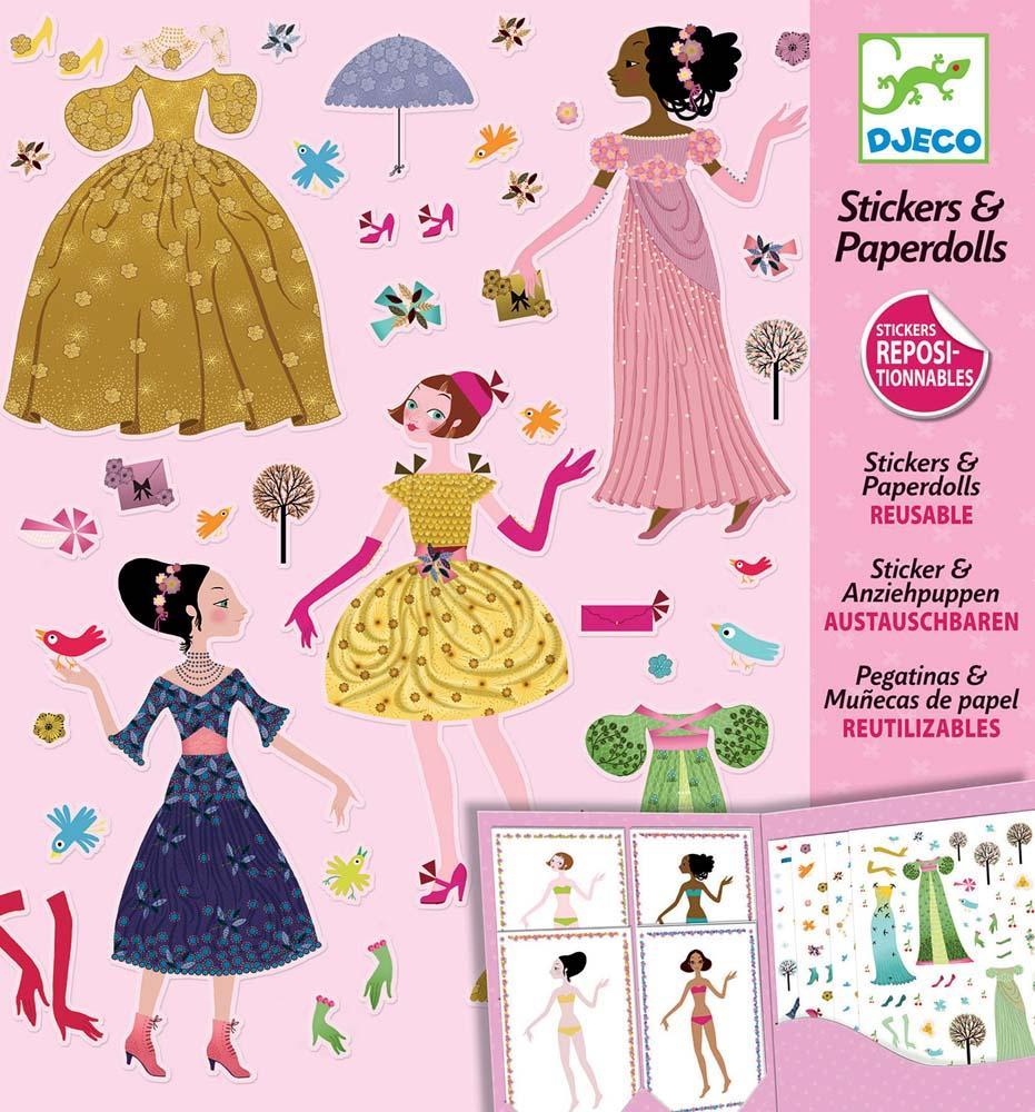 Kreativni set PAPER DOLLS DRESSES