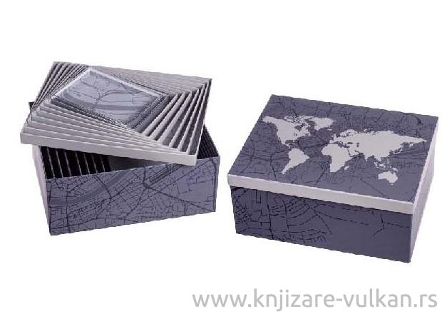 KUTIJA WORLD MAP 27 X 35 X 16 cm