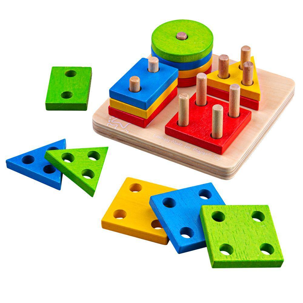Drvena igračka OBLICI