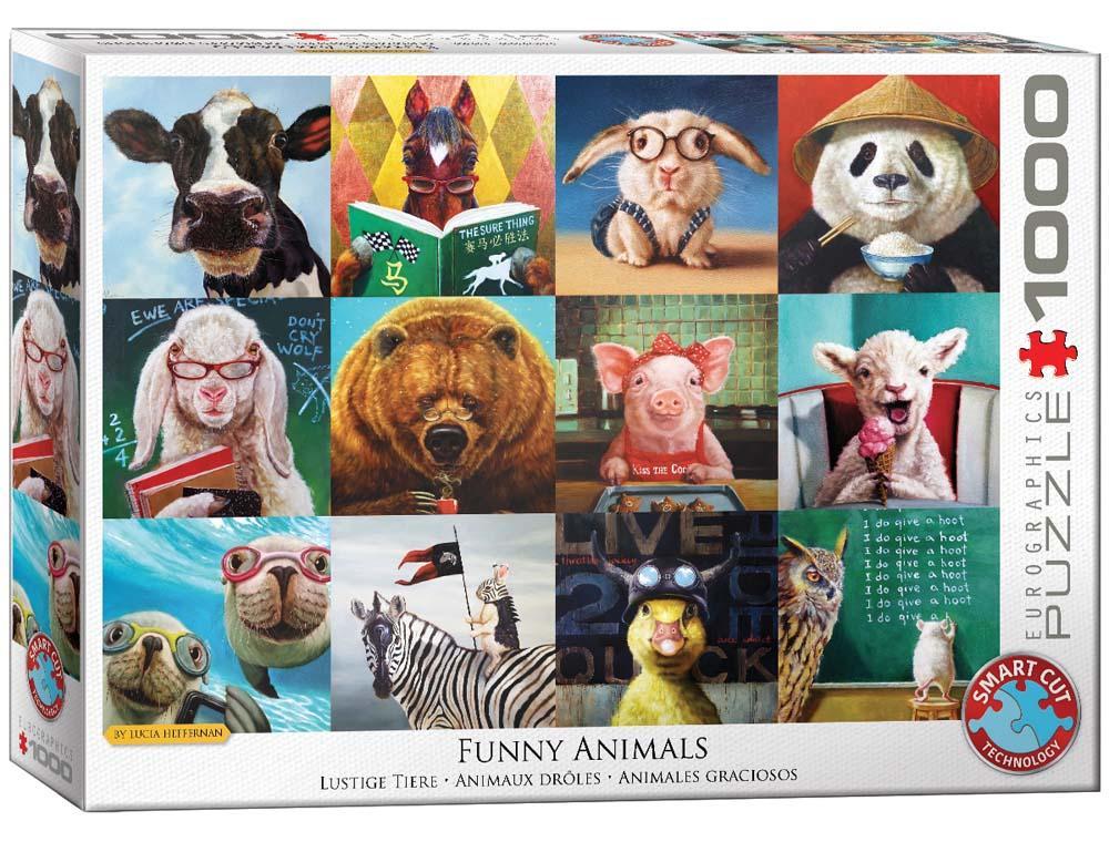 Puzzle FUNNY ANIMALS BY L. HEFFERNAN 1000 kom