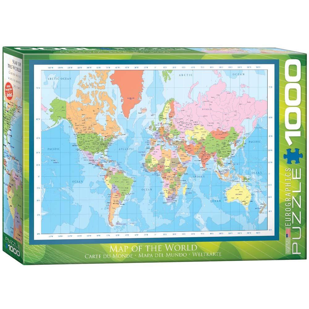 Puzzle MODERNA MAPA SVETA 1000 kom