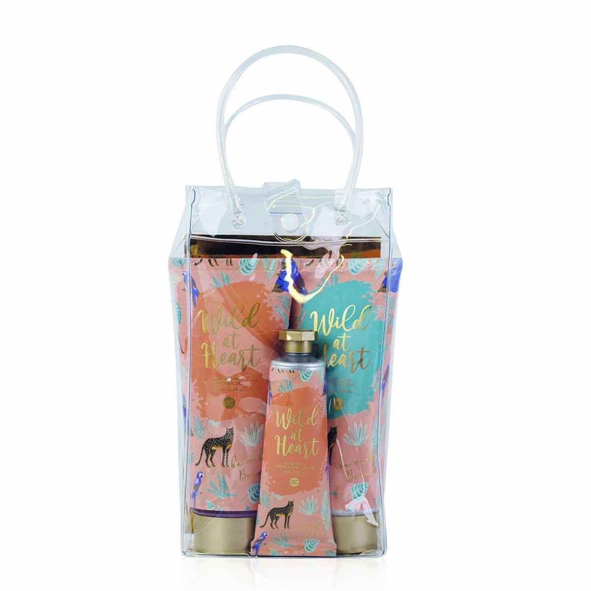 Poklon set WILD AT HEART u transparentoj torbici