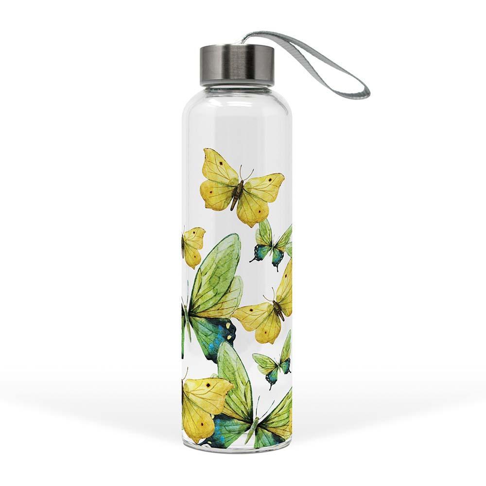 Staklena flaša GREEN BUTTERFLIES