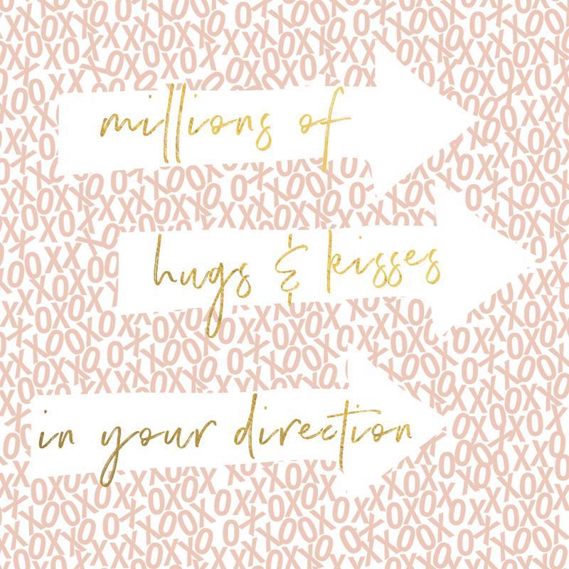 Čestitka MILLIONS HUGS AND KISSES