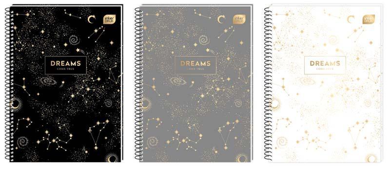 Sveska A4 na kvadratiće - DREAMS spirala