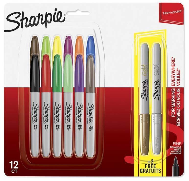 SHARPIE set markera FINE 12+2