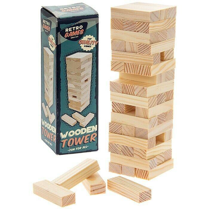 Retro igra - drvena kula