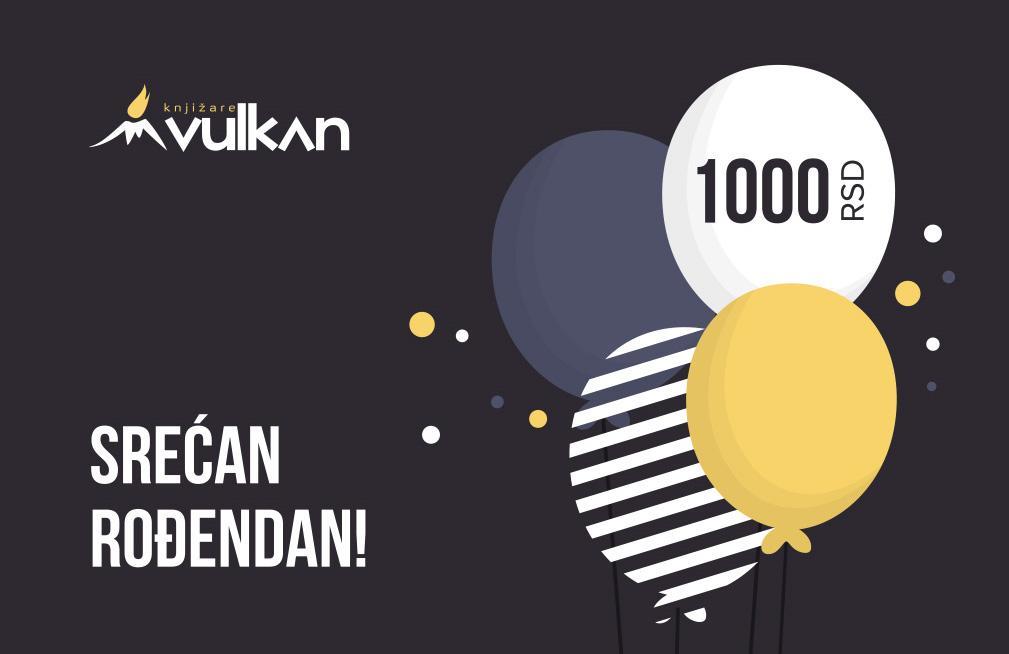 GIFT KARTICA/VAUČER Srećan rođendan Black 1000
