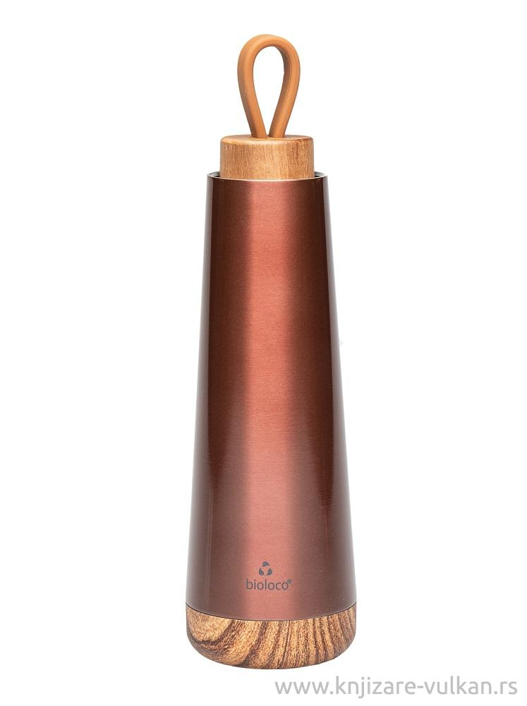BIOLOCO termo flaša METALLIC BROWN