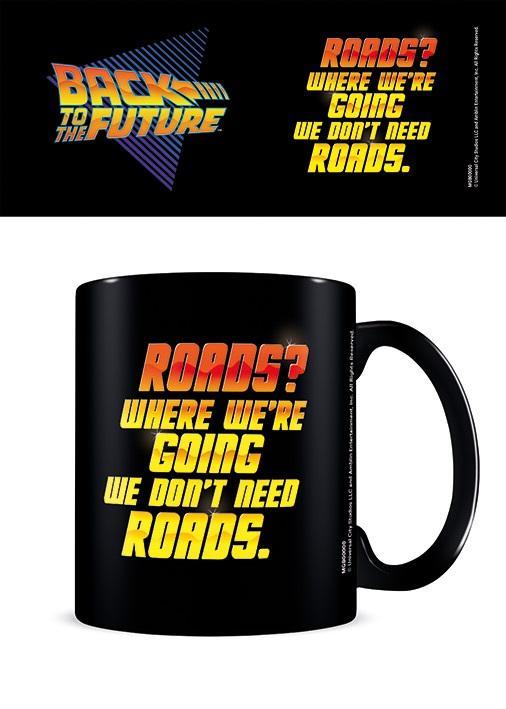 Šolja BACK TO THE FUTURE We Don't Need Roads